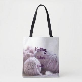 Tote Bag Boules de tricotage de prises