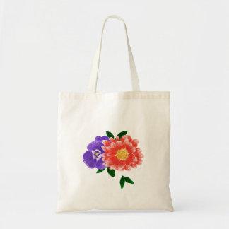 Tote Bag Bouquet Fourre-tout de pensée et de fleur de