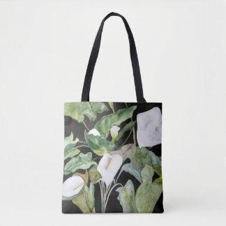 Tote Bag Bourse avec aquarelle de pélicans