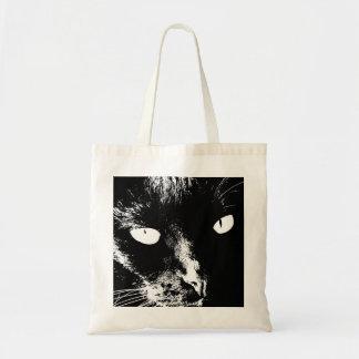 Tote Bag Bourse avec chat noir