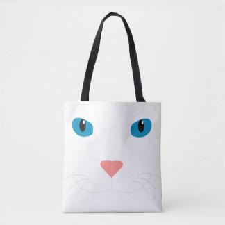Tote Bag Bourse Chat Blanc