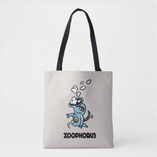 Tote Bag Bourse de toile ornée avec un personnage de bandes