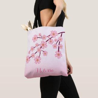 Tote Bag Branche florale de Sakura de fleurs de cerisier