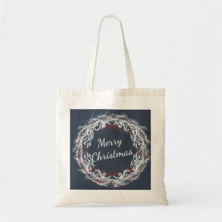 Tote Bag Budget Fourre-tout de guirlande de Joyeux Noël