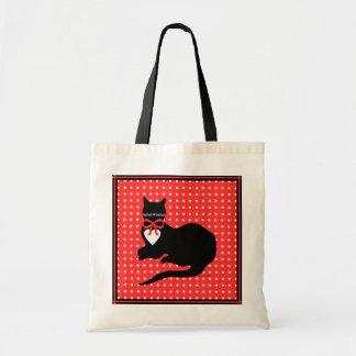 """Tote Bag Budget rouge Fourre-tout de point de """"Mlle Molly"""""""