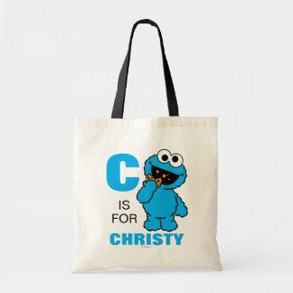 Tote Bag C est pour le monstre de biscuit que | ajoutent
