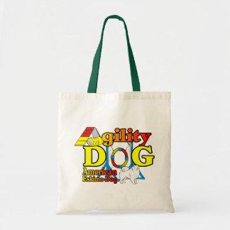 Tote Bag Cadeaux américains d'agilité de chien esquimau