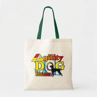 Tote Bag Cadeaux de chemises d'agilité de Weimaraner