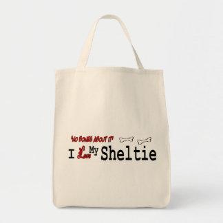 Tote Bag Cadeaux de chien de berger de Sheltie Shetland