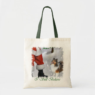 Tote Bag Cadeaux de Noël de Sheltie de chien de berger de