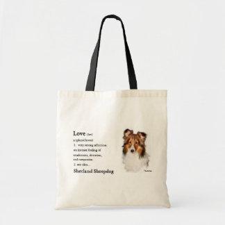 Tote Bag Cadeaux de Sheltie de chien de berger de Shetland