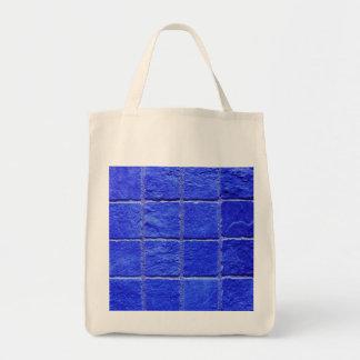 Tote Bag Carreaux arrière-plan bleus