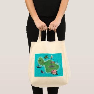 Tote Bag Carte de Maui