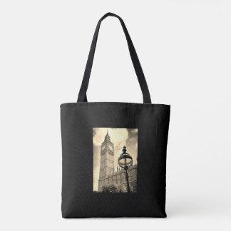 Tote Bag Carte vintage de Londres/sac fourre-tout à Big Ben