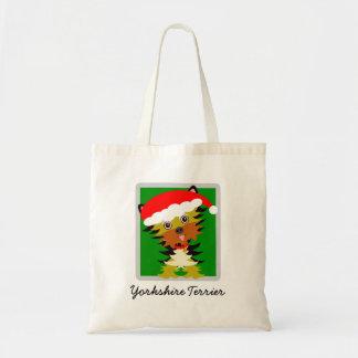 Tote Bag Casquette mignon de Père Noël de Noël de Yorkshire