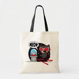Tote Bag Catwoman de Chibi volant un diamant