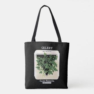 Tote Bag Céleri vintage Fredonia végétal, NY de coupe de