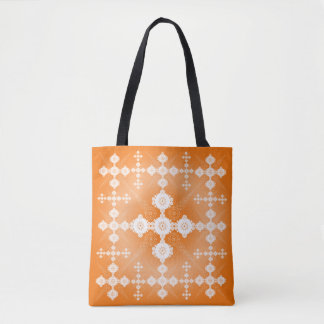 Tote Bag Celtic blanc orange de dentelle