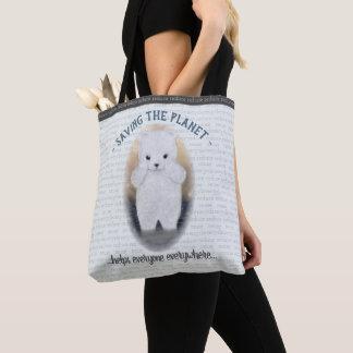Tote Bag Changement climatique triste d'ours blanc de bébé
