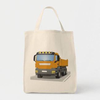 Tote Bag chantiers camion oranges