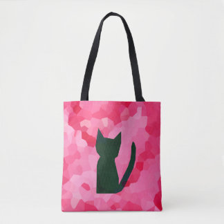Tote Bag Chat de Kitty de noir d'abrégé sur en verre