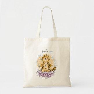 Tote Bag Chat de yoga