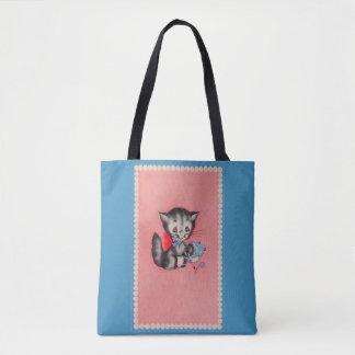 Tote Bag chat doux de minou