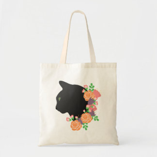 Tote Bag Chat floral Fourre-tout