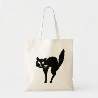 Tote Bag chat noir éffrayant avec de retour arqué le des