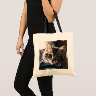Tote Bag Chat tigré doux