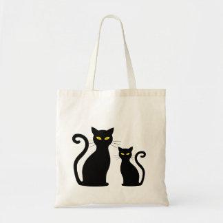 Tote Bag Chatons de chaton de chat noir de Cateye de chats