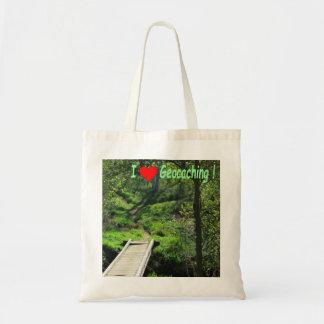 Tote Bag Chemin rural dans les bois : Geocaching