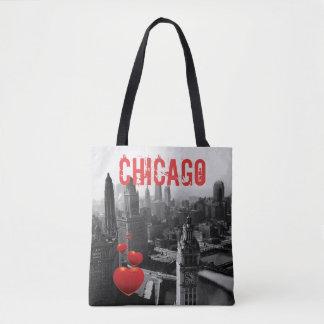 Tote Bag Chicago Skyline1930 de photographie ci-dessus de