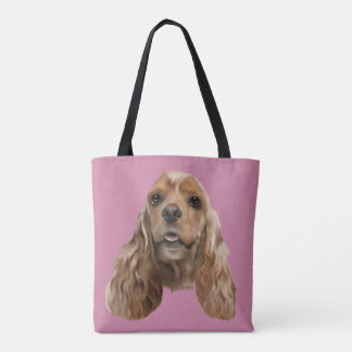 Tote Bag Chien blond de cocker