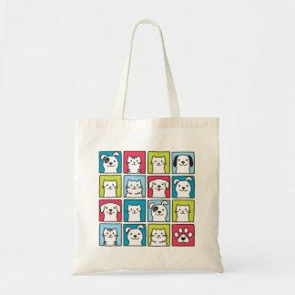 Tote Bag Chiens mignons et drôles et conception de chats