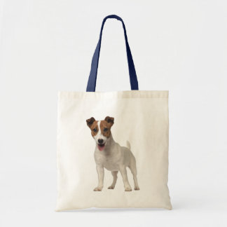Tote Bag Chiot Brown de Jack Russell Terrier et blanc