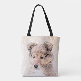 Tote Bag Chiot de chien de berger de Shetland