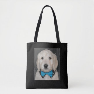 Tote Bag Chiot de Goldendoodle dans le collier de cravate