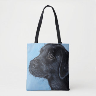 Tote Bag Chiot noir de Labrador
