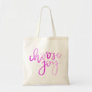 Tote Bag Choisissez la calligraphie moderne Fourre-tout -