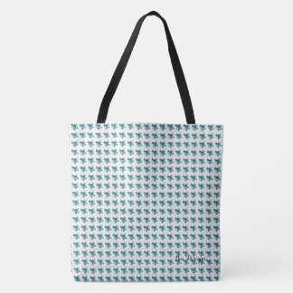 Tote Bag Choix de Roses-Vintage-Teal*II-Multi