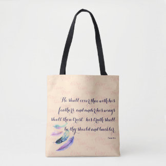 Tote Bag Chrétien IL COUVRIRA THEE