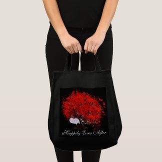 Tote Bag Chute dans d'amour le feuille de rouge d'arbre