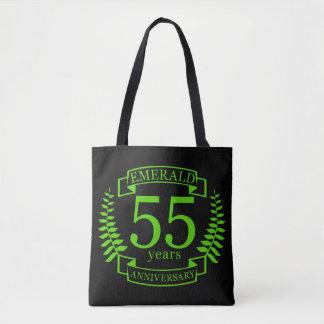 Tote Bag cinquante-cinquième ÉMERAUDE d'ANNIVERSAIRE de