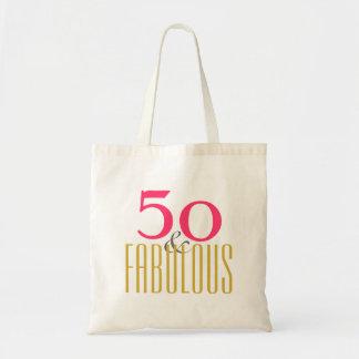 Tote Bag cinquantième et fabuleux anniversaire (ou votre