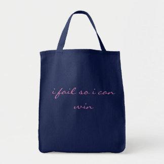 """Tote Bag Citation fourre-tout - """"j'échoue ainsi je peux"""