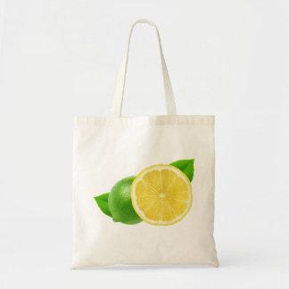 Tote Bag Citron et chaux