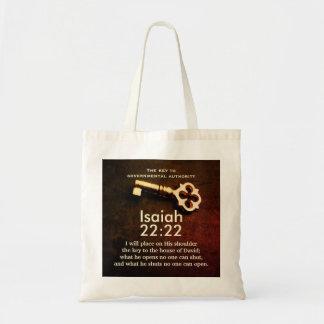 Tote Bag Clé de 22h22 d'Isaïe à la Chambre du vers de bible