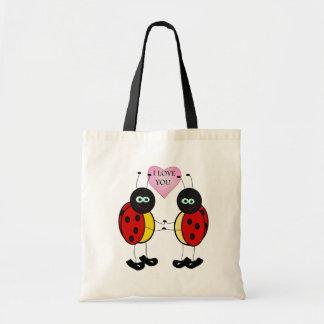 Tote Bag Coccinelles tenant ensemble des mains dans l'amour