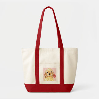 Tote Bag Cocker rose de Valentine